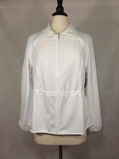 NEW CHICO'S $109 ZENERGY GOLF Convertible Mesh Jacket White Womens Vest NWT #Chicos #Windbreaker