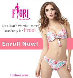 Get a Year's Worth Hipster Lace Panty for Free!