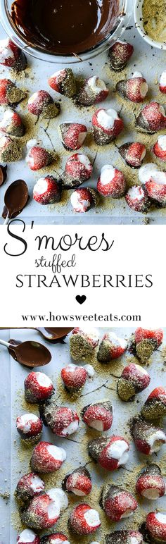 s'mores stuffed strawberries by @howsweeteats I howsweeteats.com
