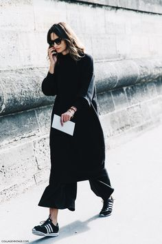 PFW-Paris_Fashion_Week-Spring_Summer_2016-Street_Style-Say_Cheese-Total_Black-Sneakers-3