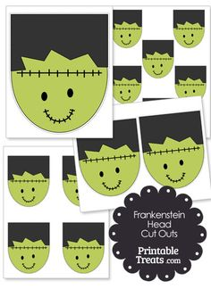 Printable Frankenstein Head Cut Outs from PrintableTreats.com