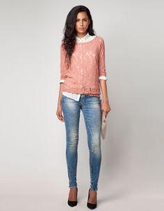 Bershka United Arab Emirates - Bershka lace jumper