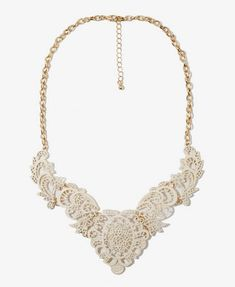 Filigree Bib Necklace - Forever 21  Saw this necklace in person and it's gorgeous!  $8.80