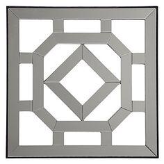 Fretwork Mirrored Plaque #1 | Wall Decor | Mirrors & Wall Decor | Decor | Z Gallerie