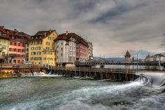 Nadelwehr in Gutsch, Luzern, LU, Schweiz