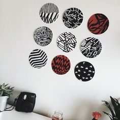 Decorate your wall like this if you are a fan of Twenty One Pilots' album, Blurryface. More room ideas: http://bedroomspirations.tumblr.com/post/136174348906