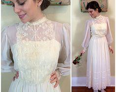Vintage Lace Edwardian Wedding Dress