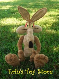 Willy the Coyote a Crochet Pattern by Erin by ErinScullsToyStore