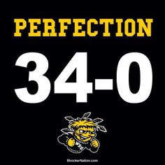 Perfection! 34-0!! GO SHOCKERS!!