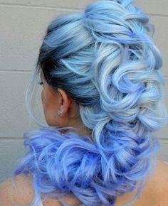 Blue Wigs Lace Frontal Hair Mousy Brown Hair Midnight Blue Hair Dark B – xxshoop Long Blonde Wig, Dark Blonde Hair Color, Hair Color Blue, Blue Colors, Colours, Cute Hair Colors, Hair Dye Colors, Cool Hair Color, Blue Hair Tumblr