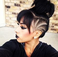 Favorite women cut shaved side hairstyleSidecut Hair Designs