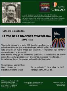 """Presentación del libro """"La voz de la diáspora venezolana"""" el sábado 1 de octubre https://shar.es/1xqu8r #Venezuela #Caracas #UCV"""
