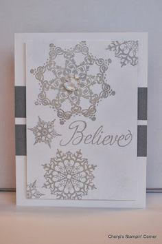 Cheryl's Stampin' Corner: Christmas Card Stamp Camp Sneak Peak #3, Stampin Up, Snowflake Soiree