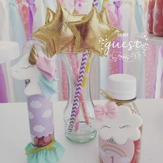 Be My Guest Party's Birthday / Unicorns - Photo Gallery at Catch My Party Mermaid Birthday, Unicorn Birthday Parties, 8th Birthday, Birthday Party Favors, Unicorn Party, Birthday Party Decorations, Rainbow Parties, Party Guests, First Birthdays