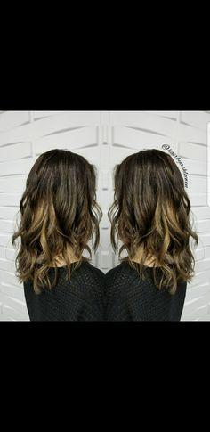 Double Trouble 😈😍  #brunette #balayage #foilayage #Schwarzkopf #yeghair