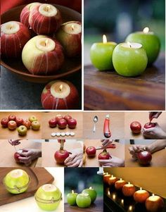 Portavelad com manzanas DIY Best Fruits, Crafty Craft, Candle Making, All Things Christmas, Holidays And Events, Food Art, Craft Projects, Christmas Decorations, Diy Crafts