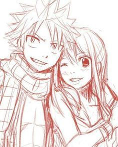 Natsu and Lucy drawing CX