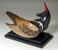 Red-Breasted Merganser by Rex Homan, Māori artist.