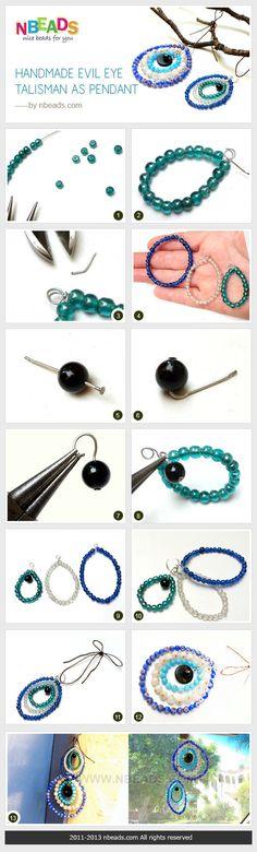 Handmade Evil Eye Talisman As Pendant diy crafts craft ideas diy ideas craft jewelry diy bracelet