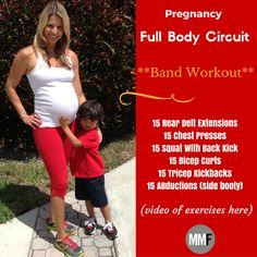 The Best Full Body Circuit Workout Exercises suited for pregnanct women like you. Check out for more pregnancy exercises and workouts on michellemariefit.com