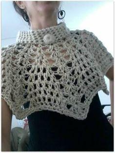 Crochet Hooded Scarf, Crochet Cape, Crochet Jacket, Crochet Scarves, Crochet Clothes, Knit Crochet, Rainbow Crochet, Crochet Circles, Crochet Stitches