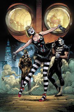 Watchmen (Marionette Mime Rorschach and Ozymandias) Comic Book Covers, Comic Books Art, Book Art, Cosmic Comics, Marvel Dc Comics, Batman, Superman, Doomsday Clock, Doomsday Comics
