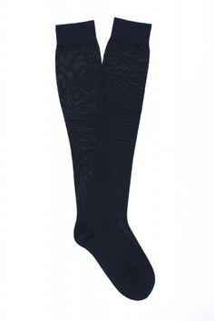 Women Plain Knee High 100% Fine Merino Wool Sock
