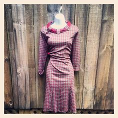 vintage 60s 70s dress with scarf tie neck.