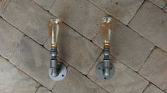 Vin-Dustrial pair of gas pipe wall lights The by TheGasline