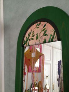 detalj av sommarspegel - stor