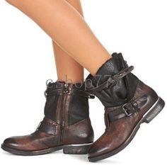 Fashion Combat Boots Womens