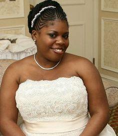 pretty cornrow updo | wedding