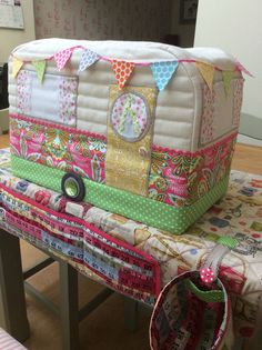 Caravan sewing machine cover by RainbowHare
