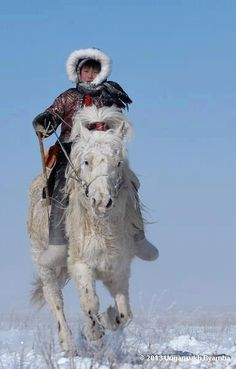 Winter Wear in Mongolia - my ancestors or so i was told. in any case, i have great admiration for these peoples