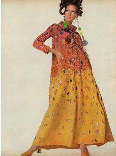 Marisa Berenson in Pierre Cardin, Vogue, 1967