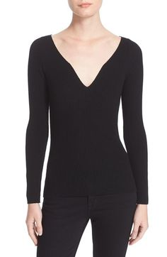 Free shipping and returns on Milly Boudoir Neck Top at Nordstrom.com. A deeply dipped sweetheart neckline brings not-so-sweet allure to a slim-fitting rib-knit sweater spun from fine wool.
