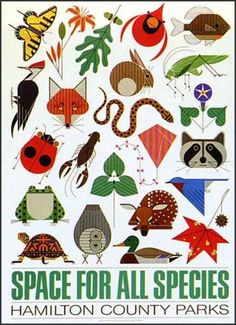 Space for all Species /  Charley Harper poster prints