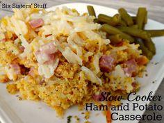 Slow Cooker Ham and Potato Casserole Recipe / Six Sisters' Stuff | Six Sisters' Stuff