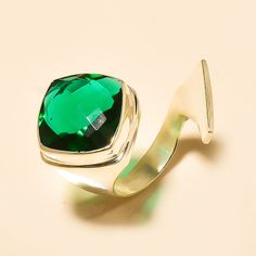 Designer Chrome Diopside 925 Sterling Silver Jewelry Ring Adjustable