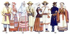 Belorussian (Eastern Slavic) folk costumes