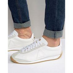 efe24e487b9b Le Coq Sportif Quartz Leather Trainers In White 1620861 ( 105) ❤ liked on  Polyvore