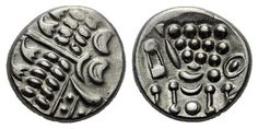 Durotriges. Uninscribed. Circa 65 BC-AD 45. Silver Stater, Abstract Cranborne Chase type