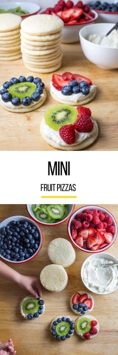 This fruit pizza recipe is created using a vanilla bean-specked frosting and bowls of fresh fruit for DIY decorating. It's a dessert and an art project, all in one.