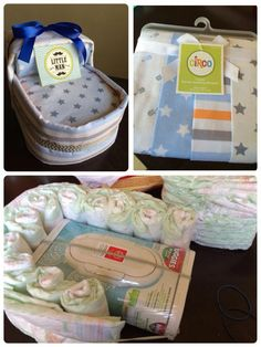 Basinet diaper cake! #diapercakedecorations