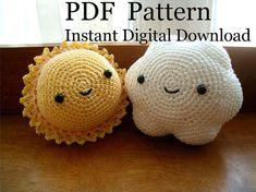 PDF Crochet Pattern Sun & Cloud by PhantomOwl, $3.50  Amigurumi sun and cloud crochet pattern inspiration
