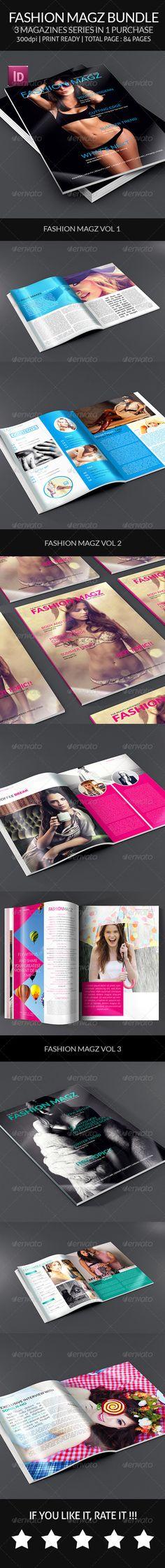 Fashion Magz Bundle - Indesign Magazine - #Magazines Print #Templates Download here: https://graphicriver.net/item/fashion-magz-bundle-indesign-magazine/8188832?ref=alena994