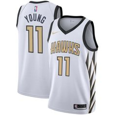 Men's Atlanta Hawks Trae Young White City Edition Swingman Basketball Jersey sold by tlook. Shop more products from tlook on Storenvy, the home of independent small businesses all over the world. Atlanta Hawks, Basketball Jersey Outfit, Hawks Game, Naming Your Business, Sports Uniforms, Sports Teams, People Brand, Girls Winter Coats, Julian Edelman