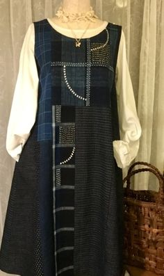 Patchwork Jacket Pattern Vintage New Ideas Linen Dresses, Casual Dresses, Boho Fashion, Womens Fashion, Fashion Design, Dress Making Patterns, Funky Outfits, Jacket Pattern, Sewing Clothes