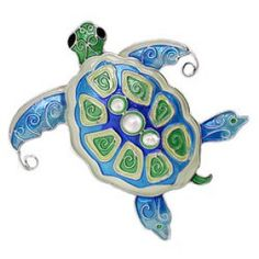 Cloisonne Enamel Sea Turtle Pin with Fresh Water Pearls. Sea Turtle Jewelry, Turtle Necklace, Sea Turtle Gifts, Silver Enamel, Pin Enamel, Beach Jewelry, Sea Creatures, Jewelry Collection, Elephant