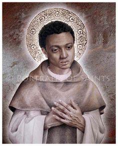 St. Martin de Porres 8x10 Art Print Catholic by PortraitsofSaints, $12.00